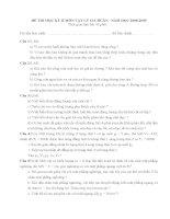 Đề thi HK II và đáp án môn Vật lý 10CB - Đề số 1