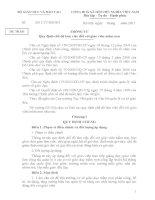 (Dự thảo) Thông tư Quy định chế độ làm việc đối với giáo viên mầm non