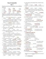 Bài tập tiếng Anh lớp 12 unit 13-The 22nd Sea Games