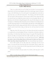 luận văn tài chính ngân hàng Phân tích tài chính và một số biện pháp nâng cao hiệu quả tài chính của Công ty Cổ Phần Tập Đoàn Hùng Cường Thiên Việt