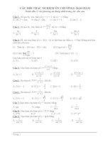 bài tập trắc nghiệm toán 12