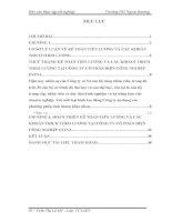 luận văn kế toán  Hoạt động kế toán tiền lương tại Công ty Cổ phần Điện Công nghiệp EVINA.