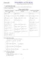 Ôn thi HKII chuyên đề tích phân (Có Đáp Số)
