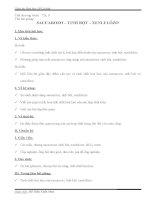 Giáo án hóa bài saccarozơ, tinh bột và glucozơ