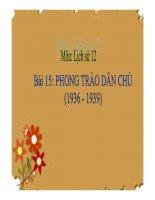 Bài giảng phong trào dân chủ 1936  1939 lịch sử 12