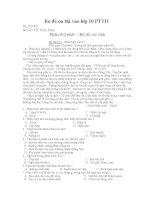 Bộ đề luyện thi vào 10 môn ngữ văn(bộ thứ 2)