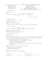 Đề và đáp án HSG môn Toán 9