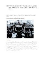 PHƯƠNG PHÁP SỬ DỤNG TRANH ẢNH VÀ LƯỢC ĐỒ TRONG SÁCH GIÁO KHOA LỊCH 9 Bài 24