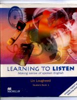 Tài liệu Learn to Listen student book 1
