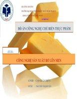 SLIDE bài thuyết trình công nghệ sản xuất bơ lên men