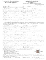 Đề thi thử THPT Quốc Gia lần 2 Quỳnh Lưu 1 năm 2015