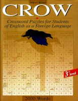 Tài liệu Crow Pre Intermediate 3rd Level   Crossword Puzzles for Students of English as a Foreign Language