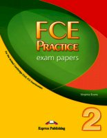 FCE Practice Exam Papers 2 Student  Book