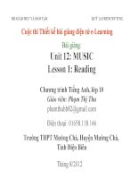 Slide english 10 unit 12 music _reading _Gv P.T Thu