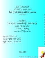 Slide hóa 9 bài 15 tính chất vật lí của kim loại _gv V.T Hồng