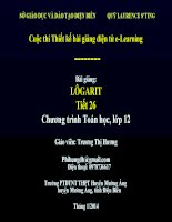 tóan 12 logarit _T.T Hương