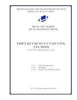 Đồ Án Tốt Nghiệp Kỹ Sư Xây Dựng Khóa 2007-2012 Thiết kế chung cư cao tầng Tân Minh