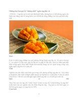 Những loại hoa quả là ngăn ngừa ung thư vú