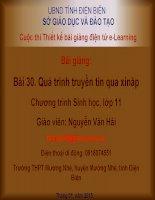 Slide sinh 30 quá trình truyền tin qua xináp  _N.V Hải