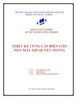 Đồ Án Tốt Nghiệp Kỹ Sư Xây Dựng Khóa 2007-2012 Thiết kế cung cấp điện cho nhà máy sợi Quyết Thắng  Vũ Hoàng Anh