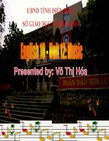 Slide english 10 unit 12 music _V.T Hoa