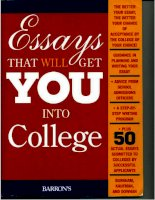 Tài liệu Essays that will get you into college