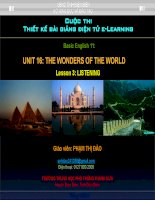 Slide english 11 unit 16 the wonders of the world _listening _P.T Dao