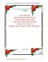 CHUYÊN ĐỀ   ĐỔI MỚI PHƯƠNG PHÁP,  HÌNH THỨC DẠY HỌC  GIÁO ÁN MÔN TIẾNG VIỆT  LỚP 5 TỪ TUẦN 10 THEO CHUẨN KIẾN THỨC KĨ NĂNG.