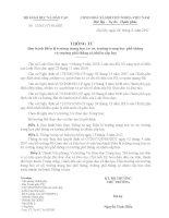 Thông tư 12/2011 (thay thế QĐ 07/2007 Bộ GD&ĐT)