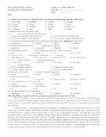 Các đề kiểm tra 1 tiết tiếng Anh lớp 11