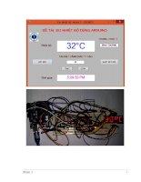 Đo và cảnh báo nhiệt độ dùng ARDUINO hiển thị trên led 7 đoạn sử dụng LM35, hiển thị trên máy tính bằng phần mềm visual studio 2013 ( kèm file project hoàn chỉnh)