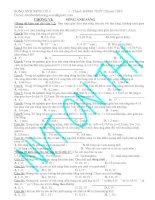 BT TN chủ đề sóng ánh sáng (có đáp số và hướng dẫn giải)