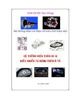 Bài giảng hệ thống điện tử trên ô tô hiện đại   hệ thống điện thân xe  điều khiển tự động trên ô tô  phần 1   PGS  TS đỗ văn dũng (đh sư phạm kỹ thuật TP  HCM)