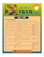 Sổ tay công thức toán học cấp 3 phần đại số