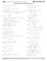 Hệ phương trình   phần 1