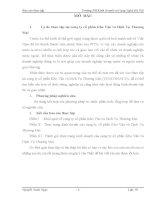 luận văn tài chính doanh nghiệp  Thực trạng kinh doanh của công ty cổ phần Kho Vận và Dịch Vụ Thương Mại