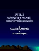 Bài giảng Ngôn ngữ học đối chiếu - Trần Văn Phước