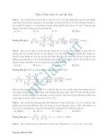 Bài tập hay về dao động cơ học
