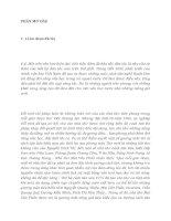 tóm tắt luận văn thạc sĩ MỘT SỐ CÁCH TÂN NGHỆ THUẬT TRONG THƠ MAI VĂN PHẤN
