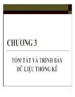 Bài giảng Nguyên lý thống kê Chương 3 - GV. Quỳnh Phương