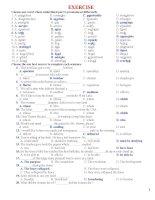 Bài tập ôn thi HKII tiếng Anh lớp 11 Cơ bản