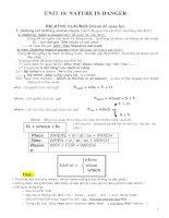 Ngữ pháp, Bài tập tiếng Anh lớp 11 (unit 10)