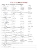 Bài tập tiếng Anh lớp 11 - UNIT 15