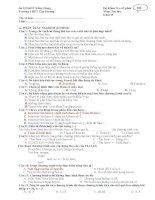 Đề kiểm tra 1 tiết tin học 11 HK2 ĐỀ 1