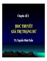 Bài giảng Nguyên lý cơ bản chủ nghĩa Mác - Lênin Chuyên đề 2 - TS. Nguyễn Minh Tuấn