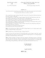 Thông tư số 12/2011/BGDĐT ngày 28.3.2011 v/v Ban hành Điều lệ Trường Trung học