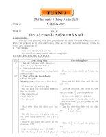 GIÁO ÁN CÁC MÔN LỚP 5 TUẦN 1
