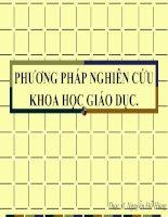 Bài giảng Phương pháp nghiên cứu khoa học giáo dục - Thạc sĩ Nguyễn Đỗ Hùng