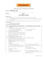 GIÁO ÁN CÁC MÔN LỚP 5 TUẦN 6