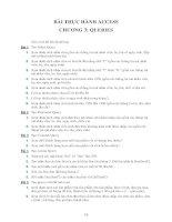 BÀI THỰC HÀNH ACCESS CHƯƠNG 3: QUERIES